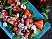... | Strawberry Mango Salsa, Candied Pecans and Strawberry Balsamic
