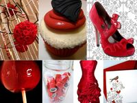 Wedding -Black, red, and white ideas