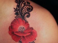 Lace Tattoo with Flowers