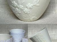 cerâmica rendada