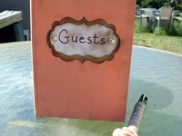 Rustic wedding guest books