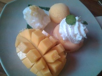 Black Sesame Ice Cream Gion Japanese Restaurant Parnell Auckland New Zealand Desserts Ice Cream Food