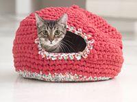 Free Crochet Pattern Cat Nest : Crochet - Cat bed/cave/nest/igloo/bed on Pinterest ...