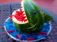 Watermelon Carvings and Fruit Displays