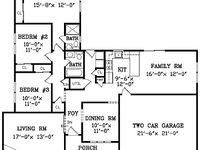 1000 images about floor plans on pinterest l shaped for House plans with eat in kitchen