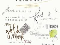 handwriting/fonts