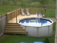 above ground pool decks on Pinterest | Above Ground Pool, Ground Pools ...