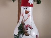Lightbulb Christmas ornaments