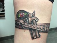 36 best images about derringer tattoo on pinterest canon for Gun holster tattoo