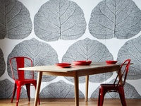 Artful awesome wallpaper ,paint treatments  & photo/art gallery arrangements for your walls