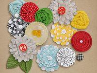 #Flowers - #Homemade, #Scrapbooking, #Crafts, #DIY Flowers, #Paper Flowers, #Felt Flowers, #Punched Flowers, #Fabric Flowers, #Ribbon Flowers
