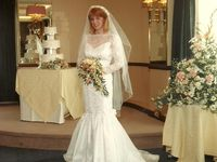 I'm not getting married...have already been and don't want to do it again...but I LOVE wedding dresses and outfits for a bride to wear on her special day!