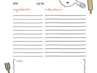 Recipe templates to help others make their own recipe books