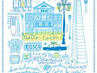 Te Amo, Buenos Aires / Illustrations of why we love Buenos Aires, Argentina