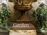 Classic aged garden urns, honestly they're hard to find....