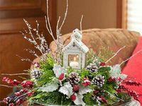 Decorations table xmas