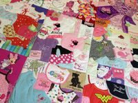 Quilts from baby clothes