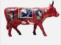 Painted fund raiser cows