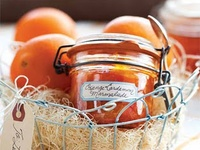 Jams jellies, preserves and other things that go in jars.
