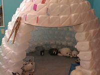 * WINTER: Noordpool IJsberen & Eskimo's: knutselen & kleurplaten!