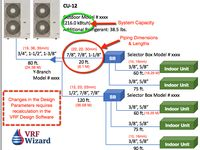 Vrf Piping Layout Vrf Wizard Variable Refrigerant Flow Air Conditioning