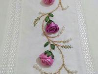 ideia pra por as flores na toalha