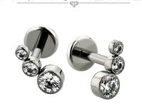 Jewelry I like, cartilage piercing combinations that I like.  Gauges and tunnels aren't my thing.