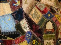 Crazy quilts, unusual quilts Ideas with Ties