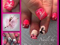 Dance nail art