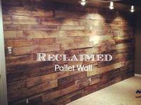 Reclaimed palette wood