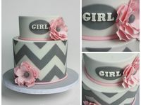 Baby girl shower cakes/cupcakes