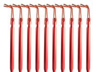 10Pcs 16cm Heavy Duty Aluminum Outdoor Camping Tent Peg Ground Nail Stakes