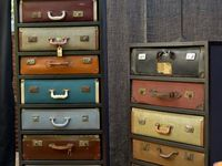 vintage suitcases and gates