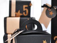 Box para presente e papéis