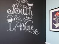 Les 12 meilleures images propos de deco a la craie sur pinterest bacon c - Grande ardoise murale restaurant ...