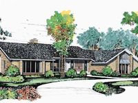 Contemporary Style House Plan 4 Beds 3 5 Baths 4584 Sq Ft Plan 72 869 Modern Contemporary House Plans Contemporary House Plans House Plans
