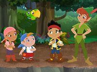 Peter Pan, Jack and the pirates
