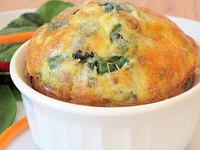 ... | Corn souffle, Roasted vegetable lasagna and Spinach frittata