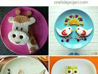 decoración infantil con frutas y otros