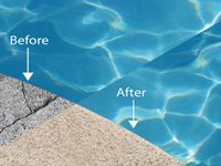 Roller Rock Painted Pool Deck Cement Pools Deck Resurfacing
