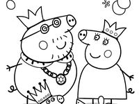 pigs in pajamas coloring pages   17 Best images about PEPPA PIG COLORING SHEETS on ...