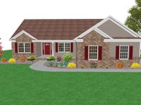 Milt Pavlisin Custom Homes 216 401 4834 Kathryn Home Plan Ranch House Exterior Ranch House Ranch Style Homes