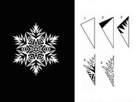 Makeing snowflakes
