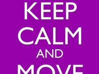 Take a breath and read a keep calm card!