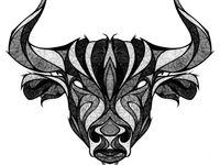 Bull (Taurus) Tattoos