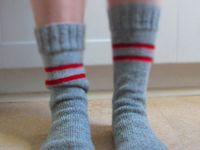 Handschuh Socken Häckelblümchen