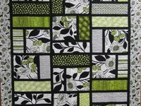 lime green quilt