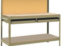 Xtreme Garage 6 Metal Workbench From Menards 106 79 Workbench With Pegboard Wood Store Menards