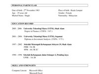 Example Of Resume Format For Ojt In 2020 With Images Resume Format Resume Examples Job Resume Format