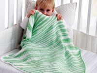 Crochet baby and adult blankets